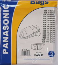 Dust Bags For Panasonic C2E Cylinder Vacuum Cleaner MCE60 Bags
